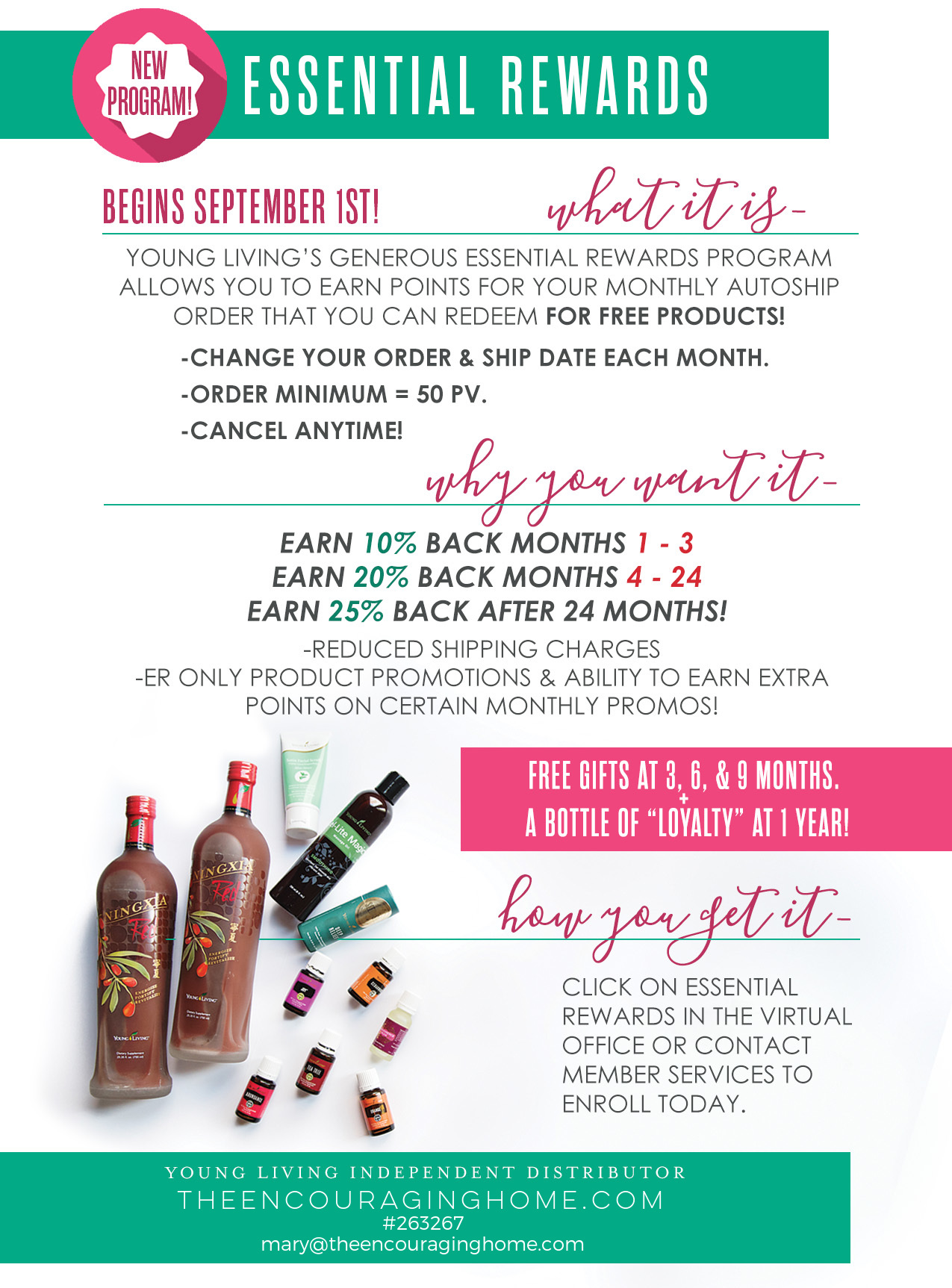 Essential Rewards Free Oils with Young Living