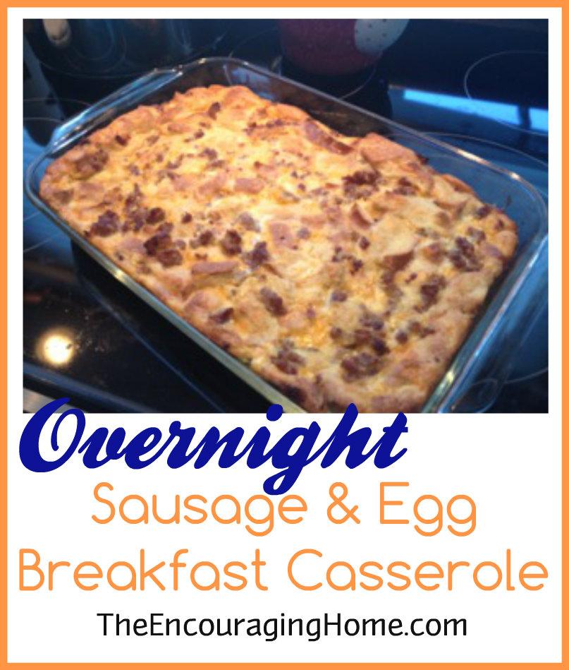 Overnight Sausage & Egg Breakfast Casserole