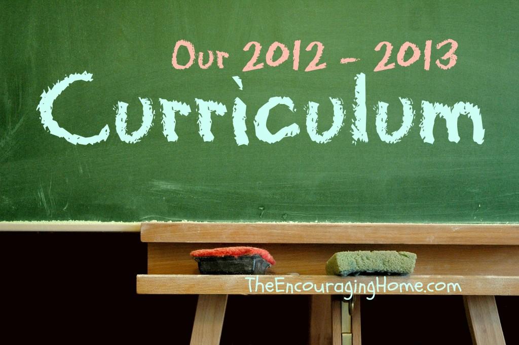 Our 2012 - 2013 Curriculum